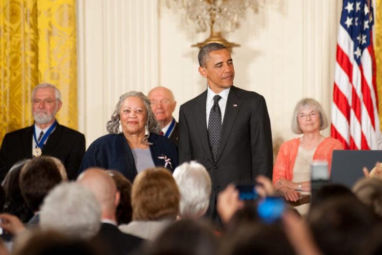Toni Morrison and Barak Obama