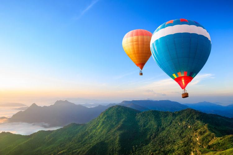 Take a hot air balloon ride