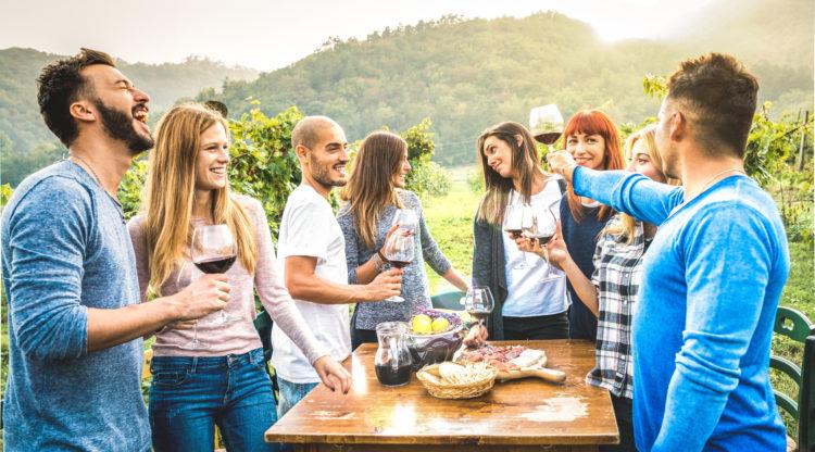 Glass of Wine at Yosemite Wine Tails