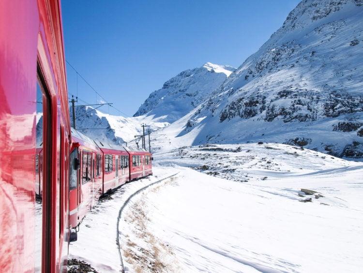 Train Ride Along the Albula/ Bernina Railway Line