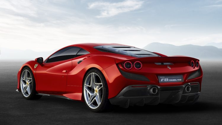 2020 Ferrari F8 Tributo back