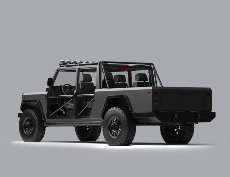 Bollinger B2 Electric Truck back