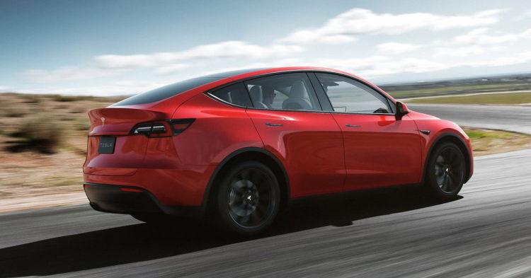 2020 Tesla Model Y back