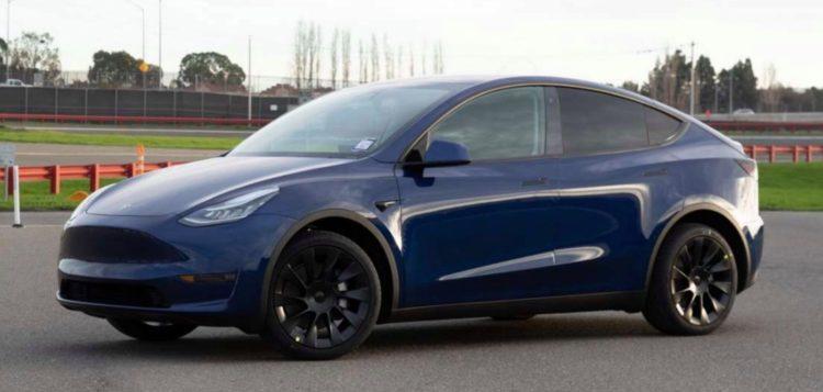 2020 Tesla Model Y side