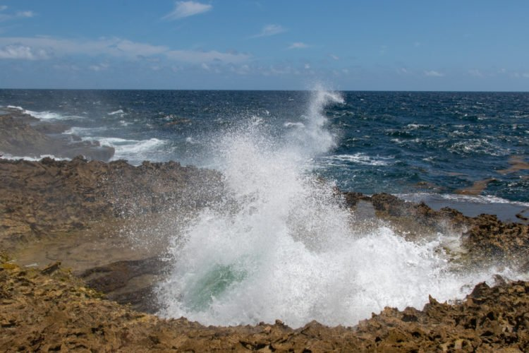 Suplado Blow Hole During an Off-Roading Tour