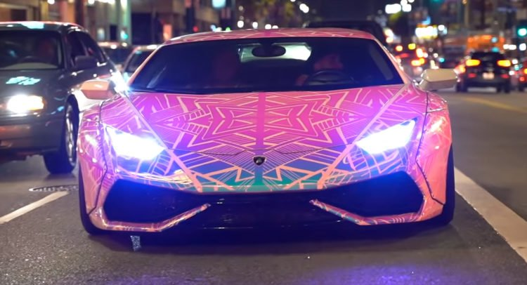 Color Changing Lamborghini
