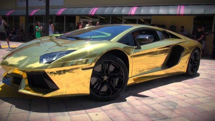 Golden Lamborghini 2