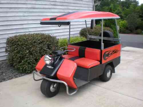 Harley Davidson AMC Black and Silver Gas Golf Cart