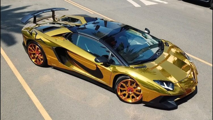 Lamborghini Aventador golden