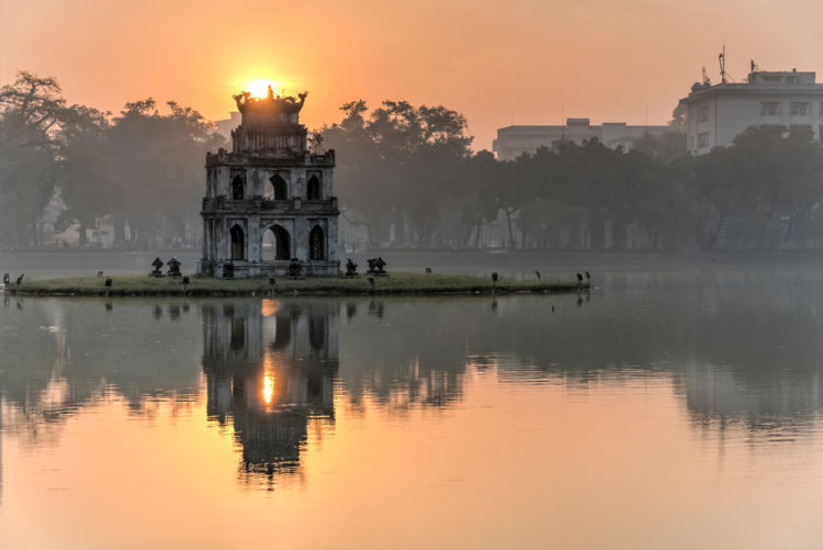 Hoan Kiem Lake or Lake of the Restored Sword