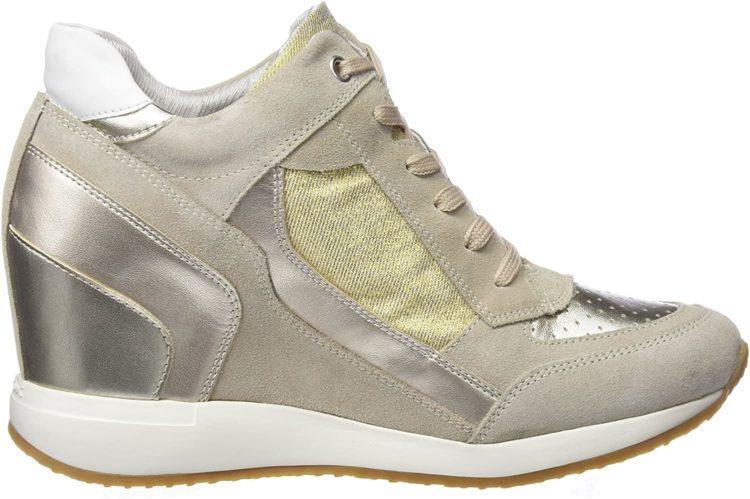 GEOX Nydame Snake Embossed Wedge Sneaker