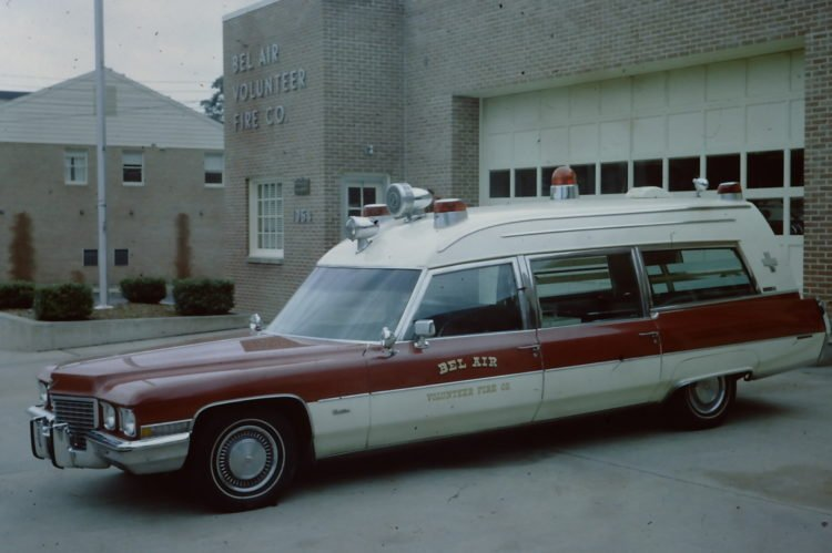 1972 Miller Meteor Cadillac ambulance