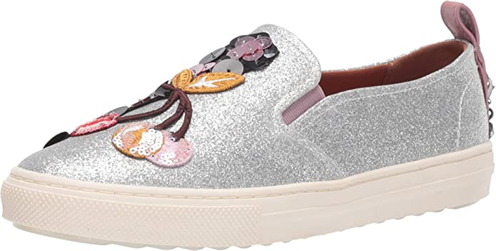 Coach Women's Sneakers with Sequins and Star Patches