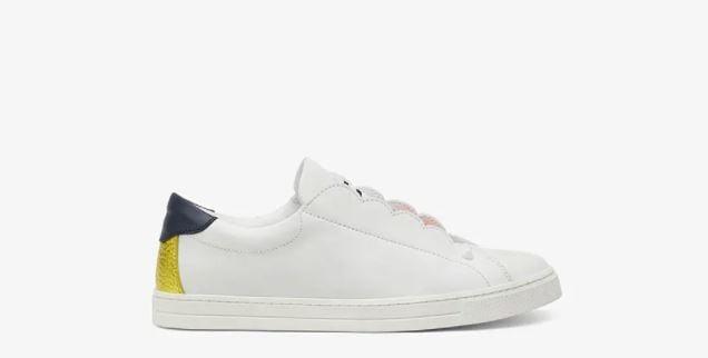 Fendi White Leather Slip ons