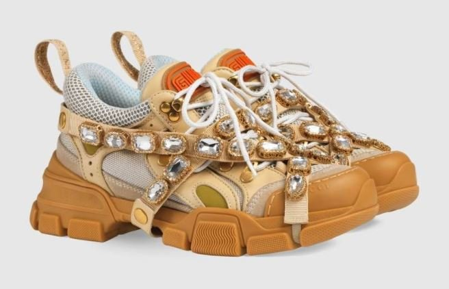 Gucci Women's Flashtrek Embellished Sneakers