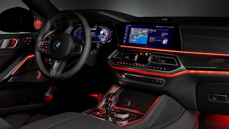 Interior of a BMW 4