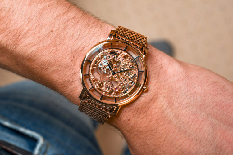 Ref. 51801R Complications Calatrova Rose Gold Ladies Skeleton Watch