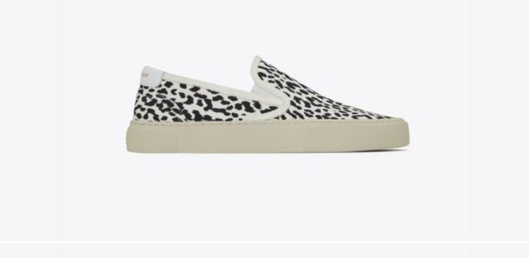 Saint Laurent Venice leopard-print canvas slip-on sneakers