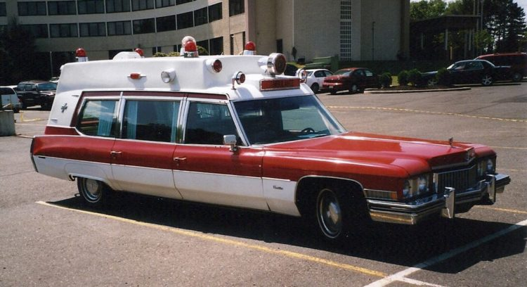 The 1973 Superior Cadillac ambulance