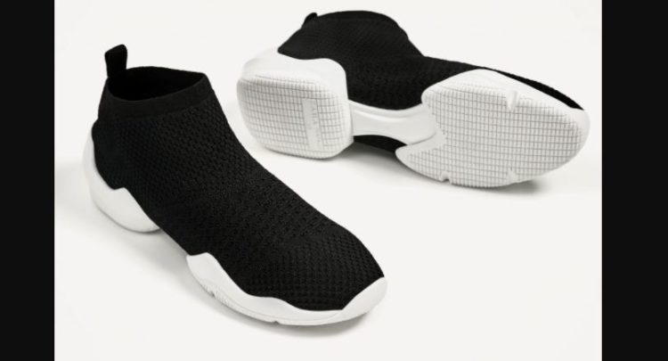 Zara Sock Sneakers With Air Chambers