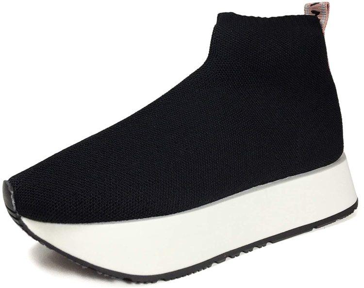 Zara Sock-Style High Top Sneakers