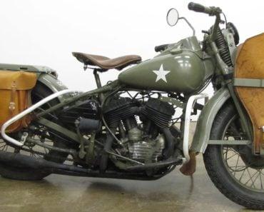 1942 Harley-Davidson WLA Liberator Army Motorcycle
