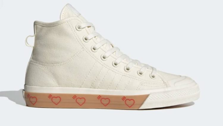Adidas Originals + Human Made Nizza Hi Rubber Trimmed Canvas High-Top Sneakers