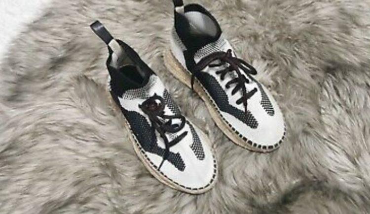 Alexander Wang Dakota Stretch-Knit Espadrille Sneakers