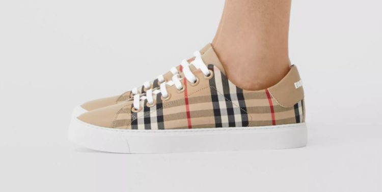 Burberry Albridge Check Sneakers