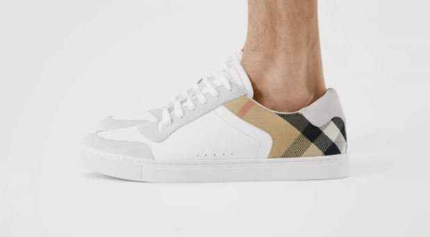 Burberry House and Check Leather Sneakers