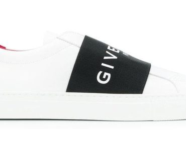 Givenchy Urban Street Logo Strap Leather Sneakers
