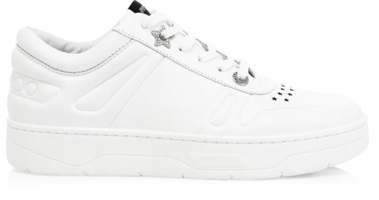 Hawaii Crystal-Embellished Perforated Leather Sneakers