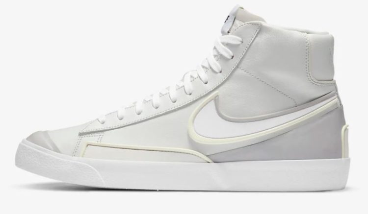 Nike Blazer Mid '77 Infinite Textured Leather High-Top Sneakers