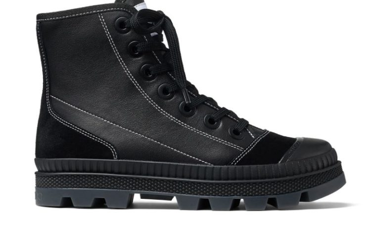 Nord Suede and Rubber-Trimmed Leather High-top Sneakers