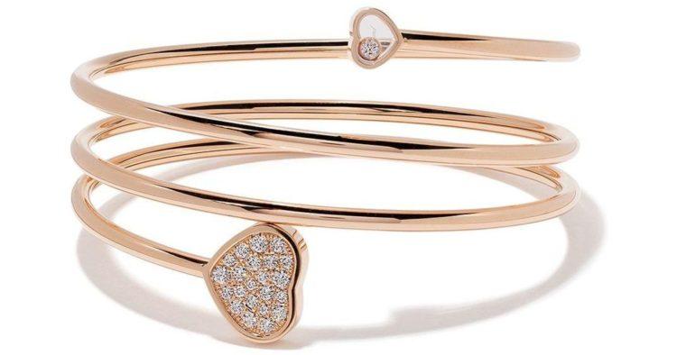 Chopard Happy Hearts twist Rose Gold Diamond Bangle