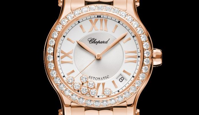 Chopard Happy Sport 36 mm Automatic Rose Gold, Diamonds Reference #274808-5004