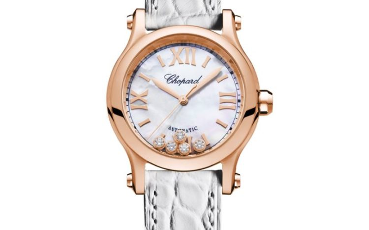 Chopard Happy Sport in Rose Gold, Rubies & Diamonds, Ladies Reference #274891-5004