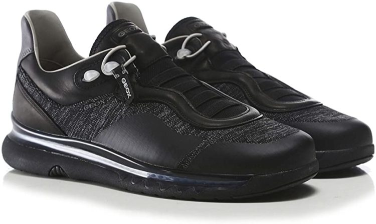 Geox Leather Mix Levita Trainers for men