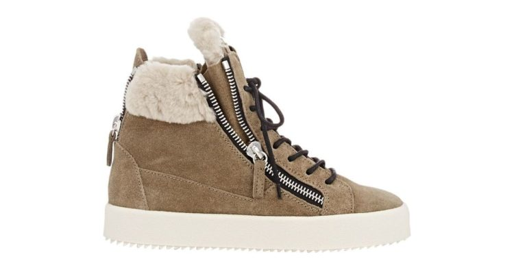 Giuseppe Zanotti Birel Dual-Zip Shearling Mid Sneakers