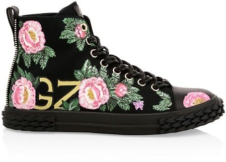 Giuseppe Zanotti x Swae Lee Floral-print High Top Sneakers