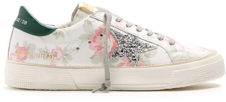 Golden Goose Superstar Floral Low-Top Sneakers