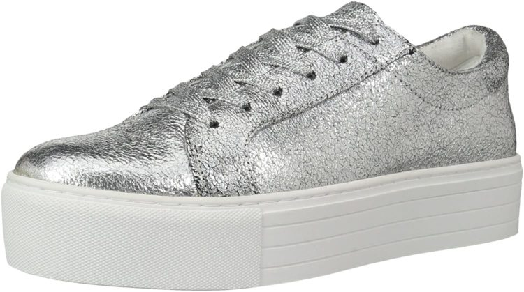 Kenneth Cole Rosette Metallic Platform Sneaker