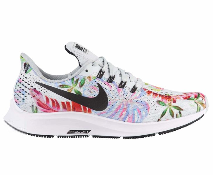 Swarovski Women's Nike Air Zoom Pegasus Black Floral Sneakers