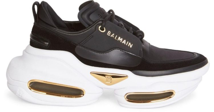 Balmain B-Bold Chunky Sole Low-Top Leather Sneakers