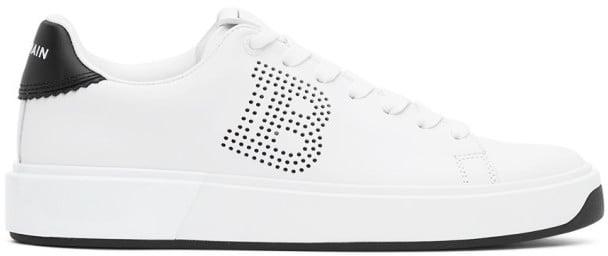 Balmain Black and White Rubber B-Bold Sandal Sneakers