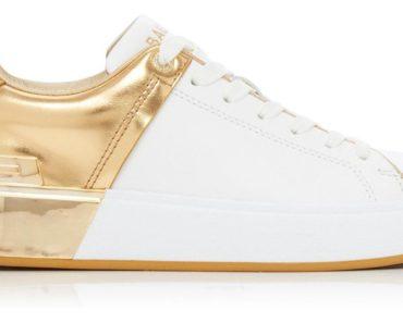 Balmain Camel Leather B-Court Sneakers