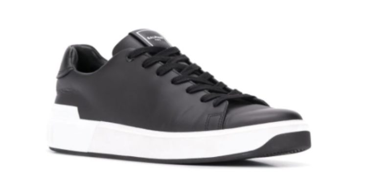 Balmain Embossed low-top sneakers for men