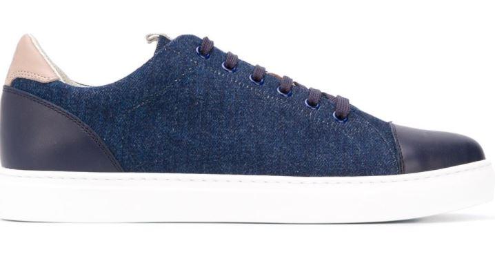Brunello Cucinelli Denim Effect Sneakers