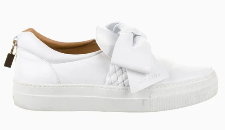 Buscemi 40MM Bow Weave Sneaker in White