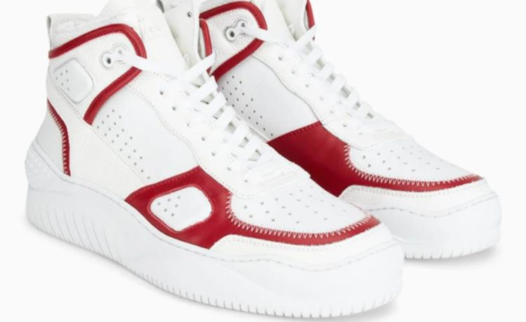 Buscemi Basket in WhiteRed